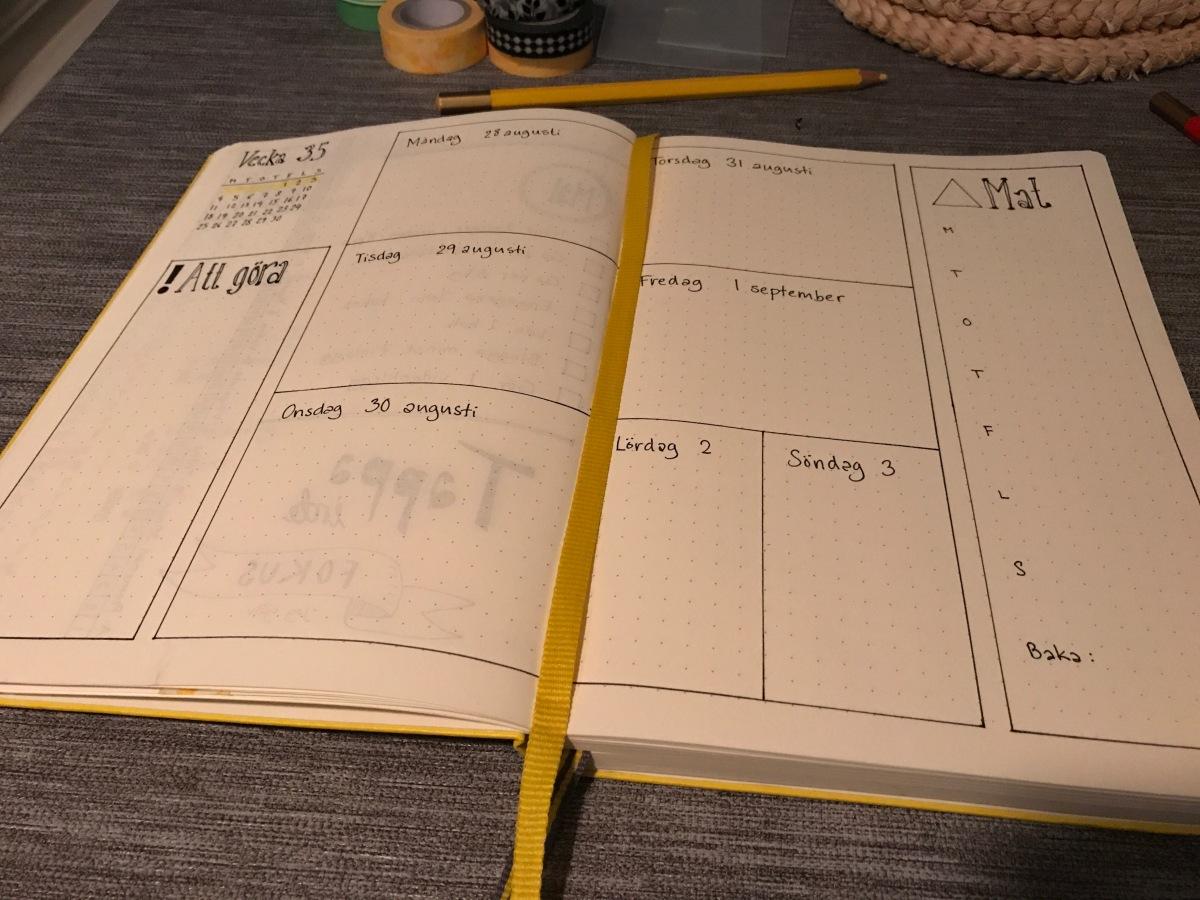 Bullet journalling för en nybörjare