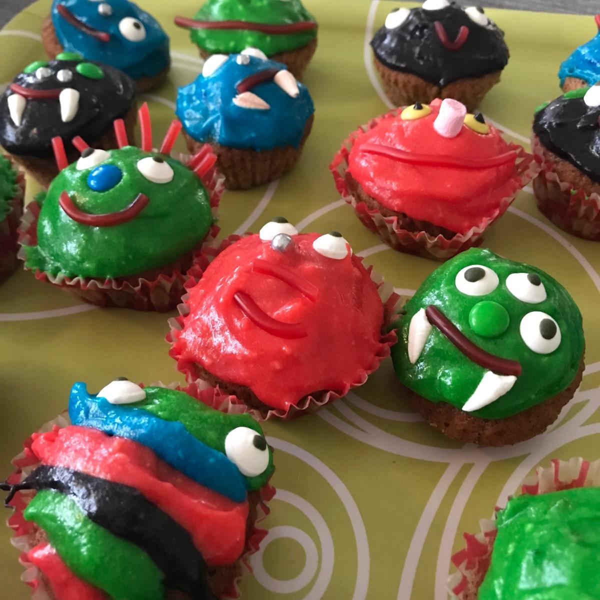 Monster-muffins till halloween