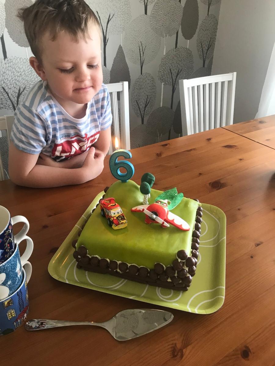 Cars- och Planestårta på 6-årsdagen